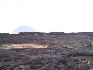 溶岩の海岸